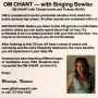OM Chant with singing bowls - inside